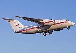 Самолет Ан-148 МЧС России осуществляет санитарно-авиационную эвакуацию четверых тяжелобольных детей