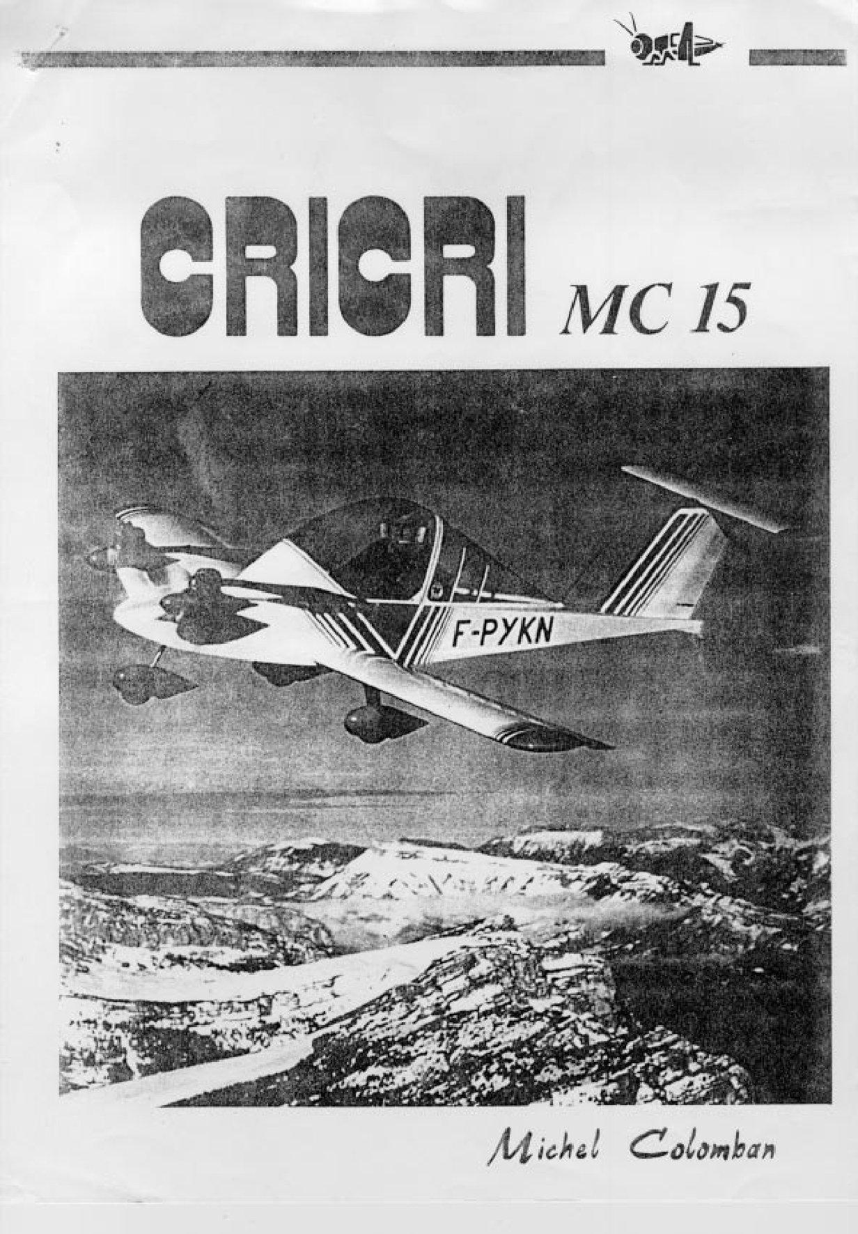 Самый маленький пилотируемый самолёт Cri-Cri (чертежи и описание)