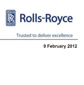 Консолидированная отчетность о деятельности компании Роллс-Ройс  за 2011 год