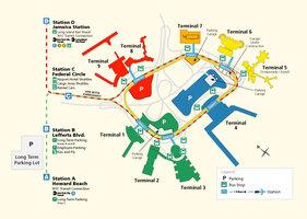 Схема парковок аэропорта Нью-Йорка (Джон Ф. Кеннеди)