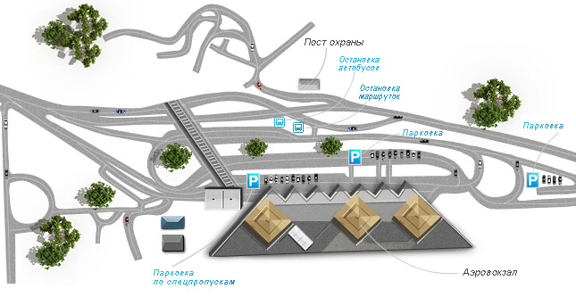 Схема привокзальной территории