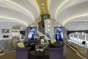 Дизайн интерьера в Боинг 747-8I vip