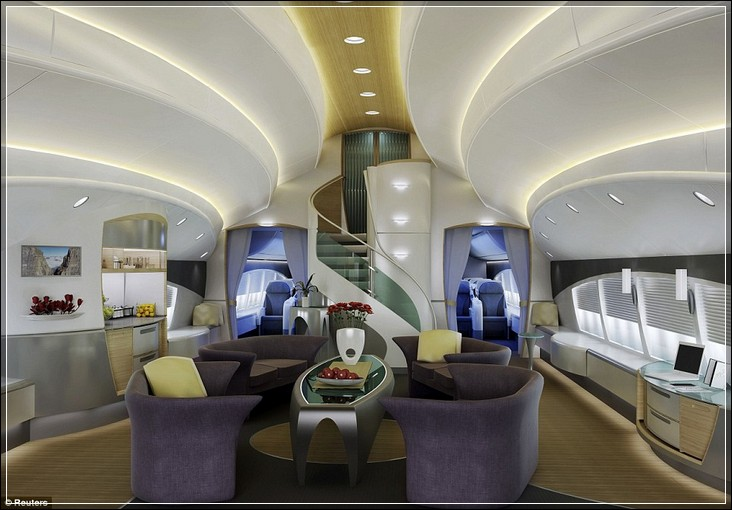 Интерьер boeing 747-8